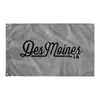 Des Moines Iowa Wall Flag (Grey & Black)-Allegiant Goods Co.