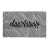 San Antonio Texas Wall Flag (Grey & Black)-Allegiant Goods Co.