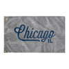 Chicago Illinois Wall Flag (Grey & Blue)-Allegiant Goods Co.