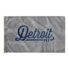 Detroit Michigan Wall Flag (Grey & Blue)-Allegiant Goods Co.