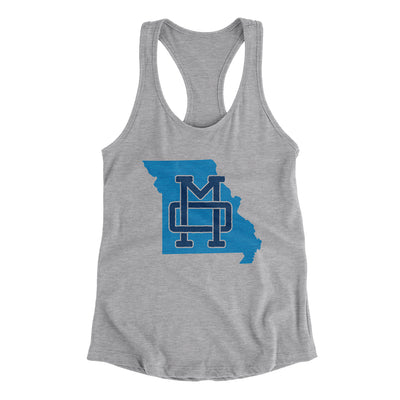 Missouri Home State Map Women's Racerback Tank-Allegiant Goods Co.