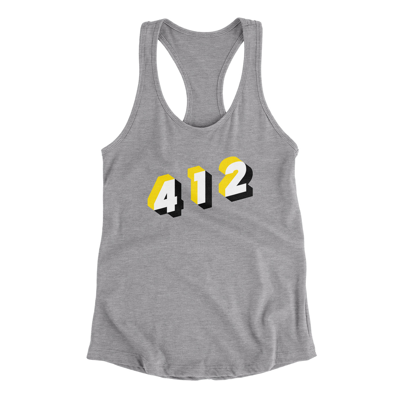 Pittsburgh 412 Area Code Women's Racerback Tank