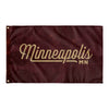 Minneapolis Minnesota Wall Flag (Maroon & Gold)-Allegiant Goods Co.
