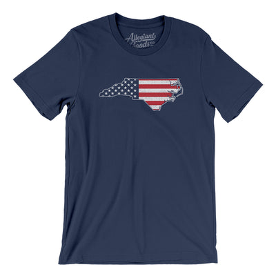 North Carolina American Flag Men/Unisex T-Shirt