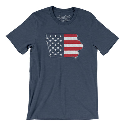 Iowa American Flag Men/Unisex T-Shirt