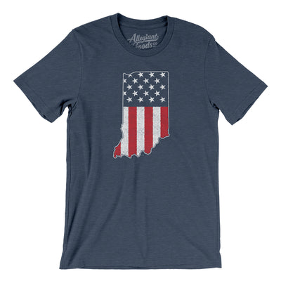 Indiana American Flag Men/Unisex T-Shirt