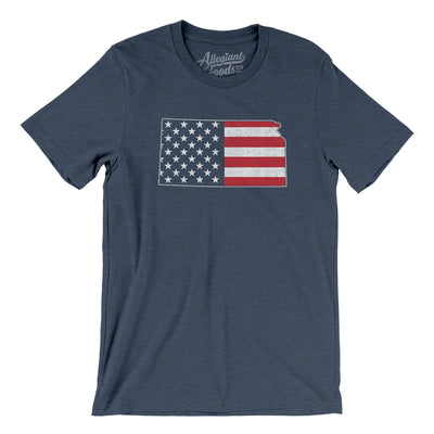 Kansas American Flag Men/Unisex T-Shirt