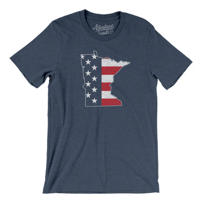 Minnesota American Flag Men/Unisex T-Shirt