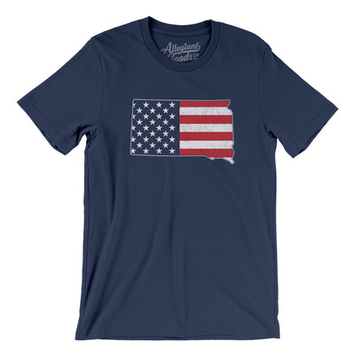 South Dakota American Flag Men/Unisex T-Shirt