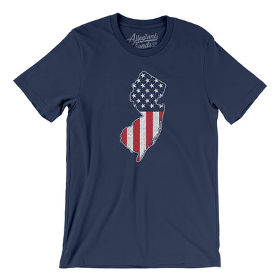 New Jersey American Flag Men/Unisex T-Shirt