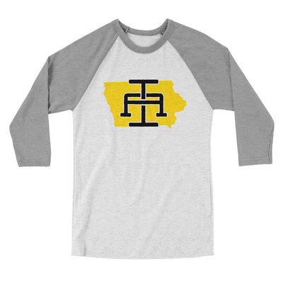 Iowa Home State Map Men/Unisex Tri-Blend Baseball T-Shirt-Allegiant Goods Co.