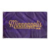 Minneapolis Minnesota Wall Flag (Purple & Yellow)-Allegiant Goods Co.