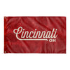 Cincinnati Ohio Wall Flag (Red and Off-White)-Allegiant Goods Co.