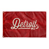 Detroit Michigan Wall Flag (Red & Off-White)-Allegiant Goods Co.