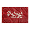 Raleigh North Carolina Wall Flag (Red & Off-White)-Allegiant Goods Co.