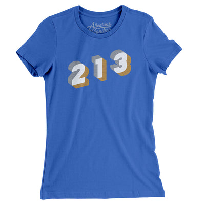 Los Angeles 213 Area Code Women's T-Shirt