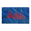 Buffalo New York Wall Flag (Blue & Red)-Allegiant Goods Co.
