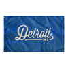 Detroit Michigan Wall Flag (Royal Blue & Off-White)-Allegiant Goods Co.
