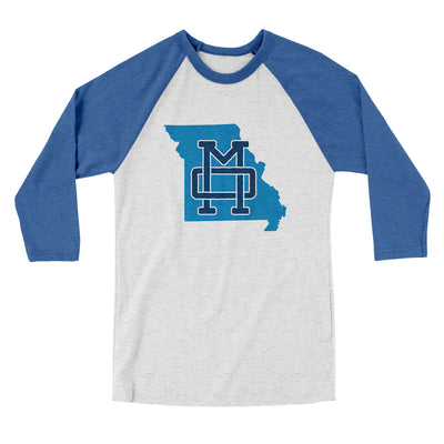 Missouri Home State Map Men/Unisex Tri-Blend Baseball T-Shirt-Allegiant Goods Co.