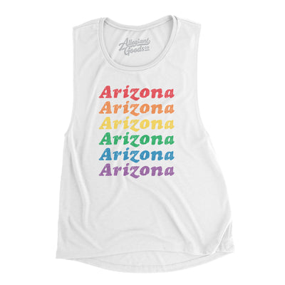 Arizona Pride Women's Flowey Scoopneck Muscle Tank