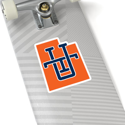 Utah Home State Sticker (Orange & Navy Blue)