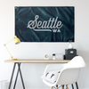 Seattle Washington Wall Flag (Teal & Grey)-Allegiant Goods Co.