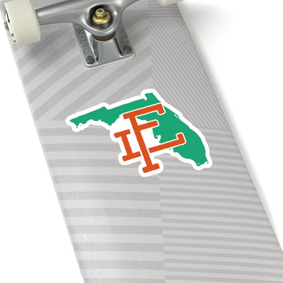 Florida Home State Sticker (Green & Orange)