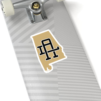 Alabama Home State Sticker (Black & Gold)