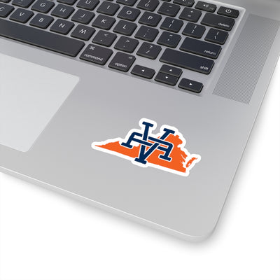 Virginia Home State Sticker (Navy Blue & Orange)