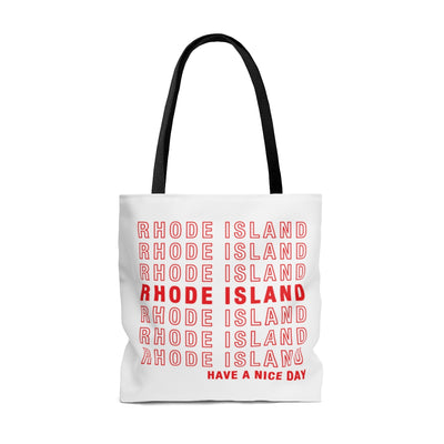 Rhode Island Retro Thank You Tote Bag