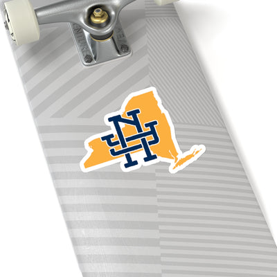 New York Home State Sticker (Yellow & Navy Blue)