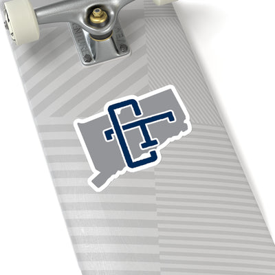 Connecticut Home State Sticker (Grey & Navy Blue)