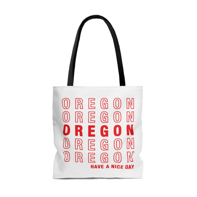 Oregon Retro Thank You Tote Bag