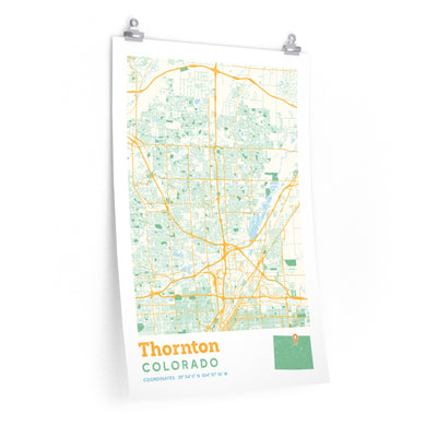 Thornton Colorado City Street Map Poster-Allegiant Goods Co.