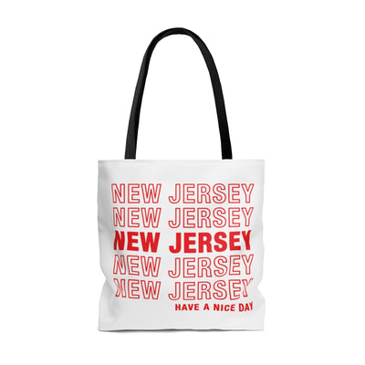 New Jersey Retro Thank You Tote Bag