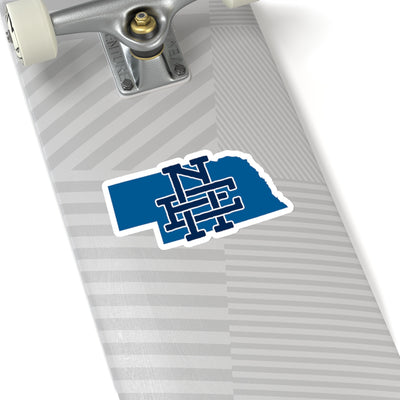 Nebraska Home State Sticker (Royal & Navy Blue)