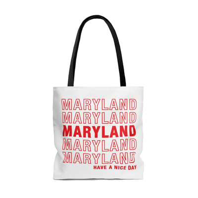 Maryland Retro Thank You Tote Bag