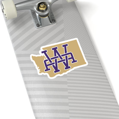 Washington Home State Sticker (Purple & Vegas Gold)