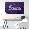 Denver Colorado Wall Flag (Purple & Grey)-Allegiant Goods Co.
