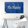 Los Angeles California Wall Flag (Royal Blue & White)-Allegiant Goods Co.