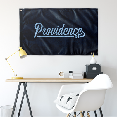 Providence Rhode Island Wall Flag (Navy & Light Blue)-Allegiant Goods Co.