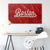 Boston Massachusetts Wall Flag (Red & Off-White)-Allegiant Goods Co.