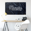 Memphis Tennessee Wall Flag (Blue & Grey)-Allegiant Goods Co.