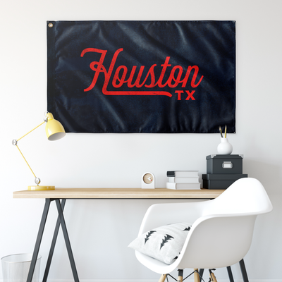 Houston Texas Wall Flag (Blue & Red)-Allegiant Goods Co.