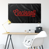 Cincinnati Ohio Wall Flag (Black & Red)-Allegiant Goods Co.