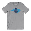 North Carolina Home State Map Men/Unisex T-Shirt-Allegiant Goods Co.