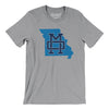 Missouri Home State Map Men/Unisex T-Shirt-Allegiant Goods Co.