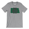 North Dakota Home State Map Men/Unisex T-Shirt-Allegiant Goods Co.