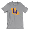 Louisiana Home State Map Men/Unisex T-Shirt-Allegiant Goods Co.
