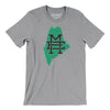 Maine Home State Map Men/Unisex T-Shirt-Allegiant Goods Co.
